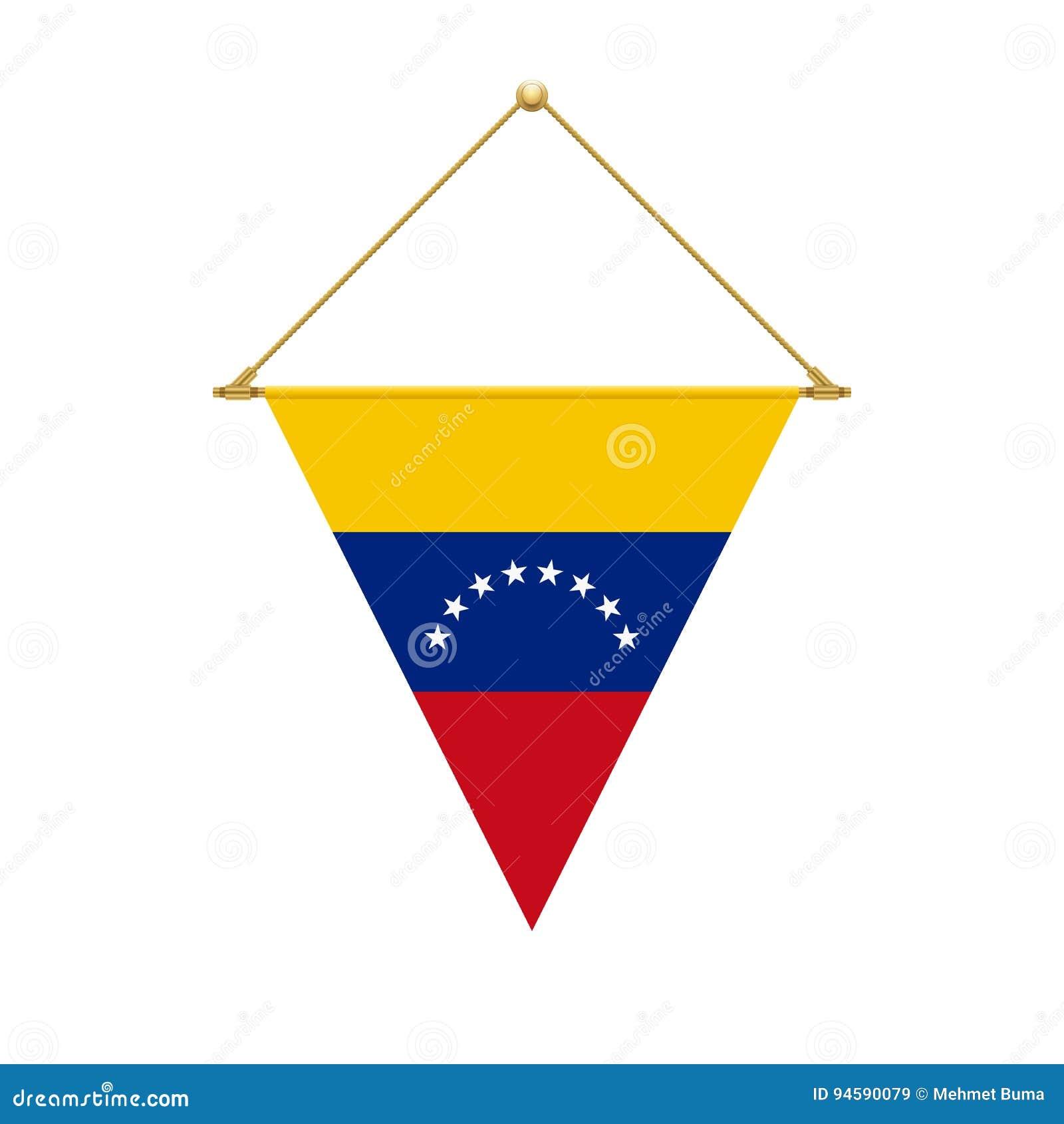 Venezuelan triangle flag hanging illustration stock vector venezuelan triangle flag hanging illustration pronofoot35fo Gallery