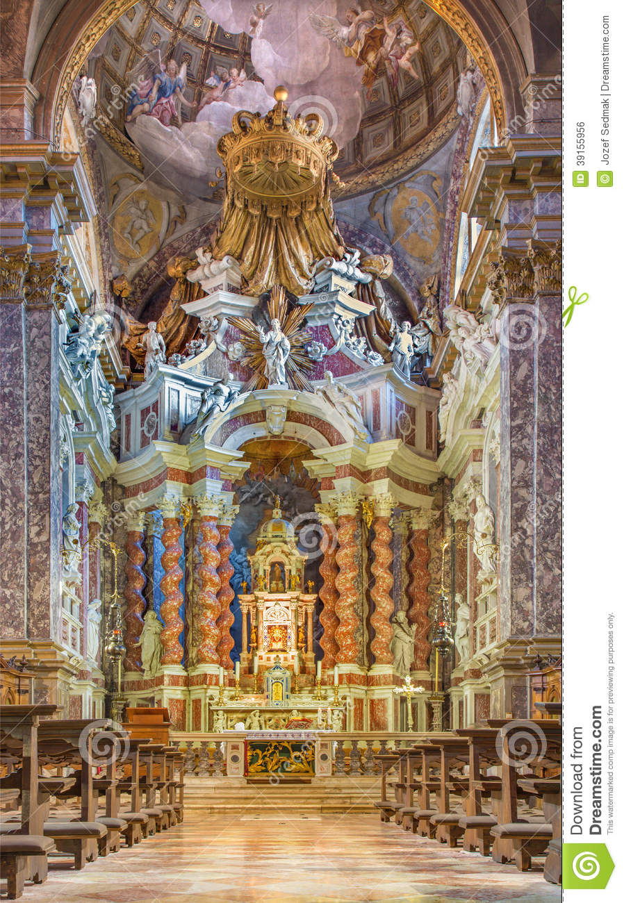 Venice baroque church santa maria degli scalzi stock for Baroque style church