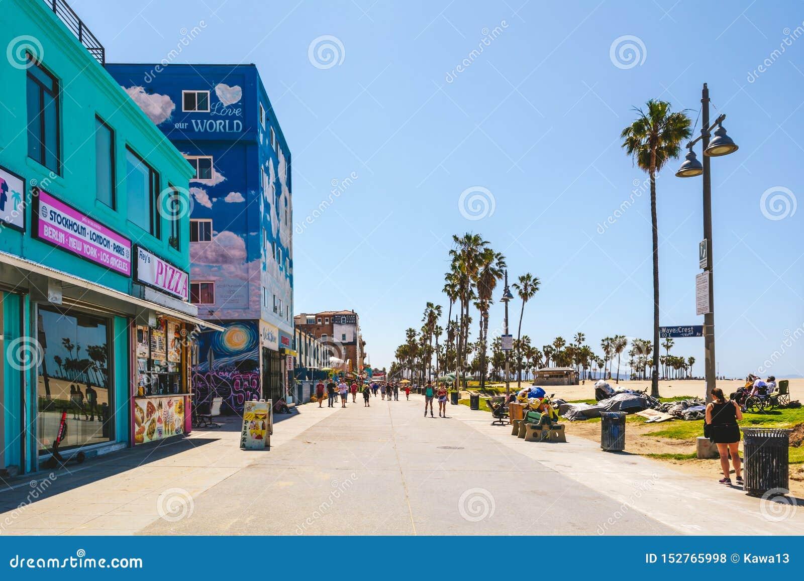 Venice Beach kust- område med exklusiv shopping
