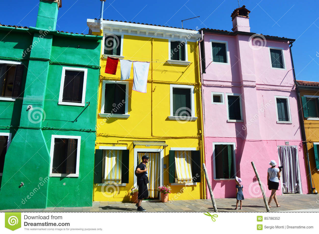 Colorful burano italy burano tourism - Venice Burano With Its Typical Colorful Houses With Tourists In Sunny Afternoon Venice