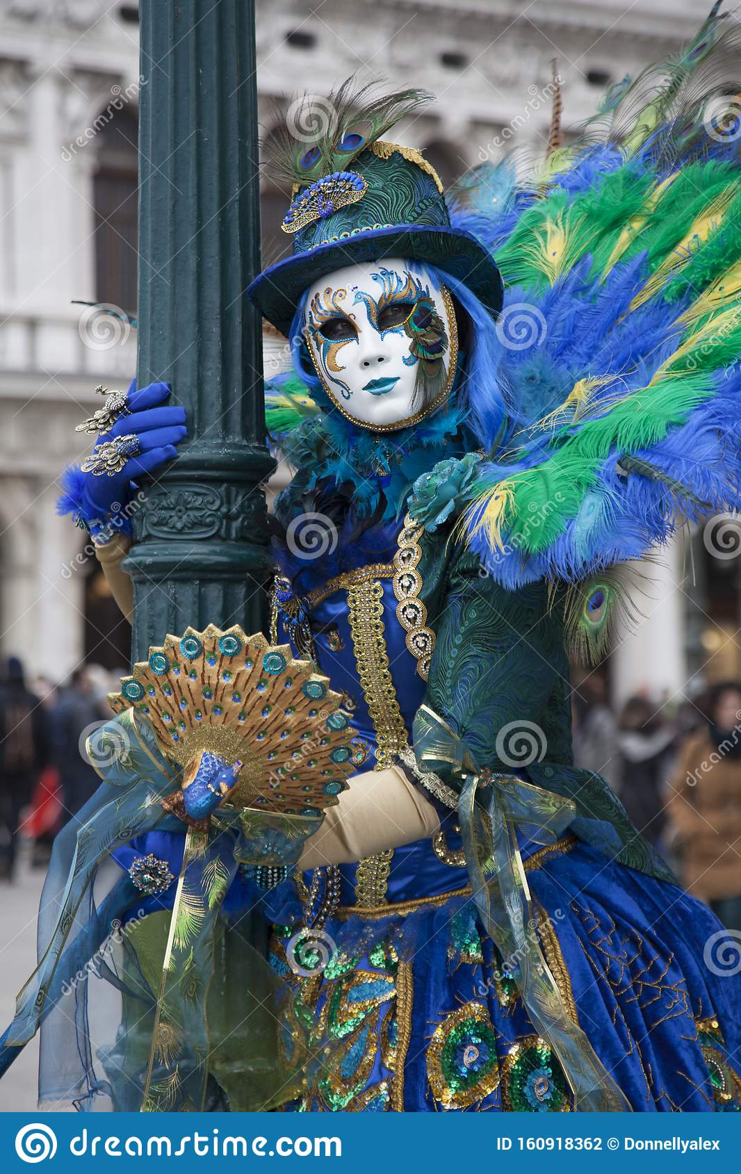 Venice Carnival People Dress In Wonderful Carnival Costumes