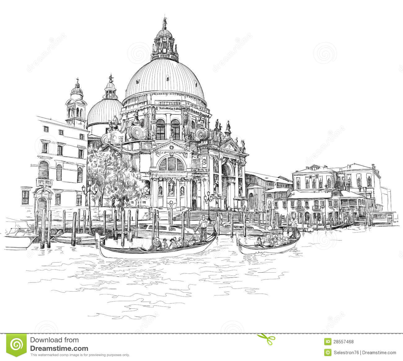 Basilica Floor Plan Venice Cathedral Of Santa Maria Della Salute Royalty