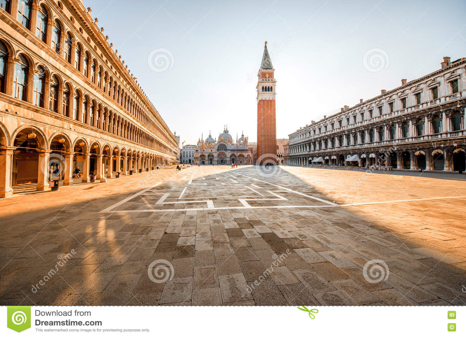 Venice central square stock image. Image of landmark - 76148773