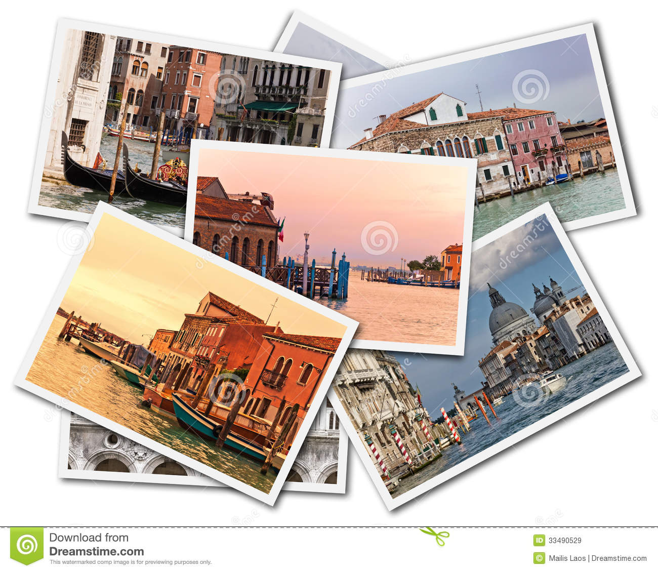 Download Venice Collage stock image. Image of italy, houses, cards - 33490529
