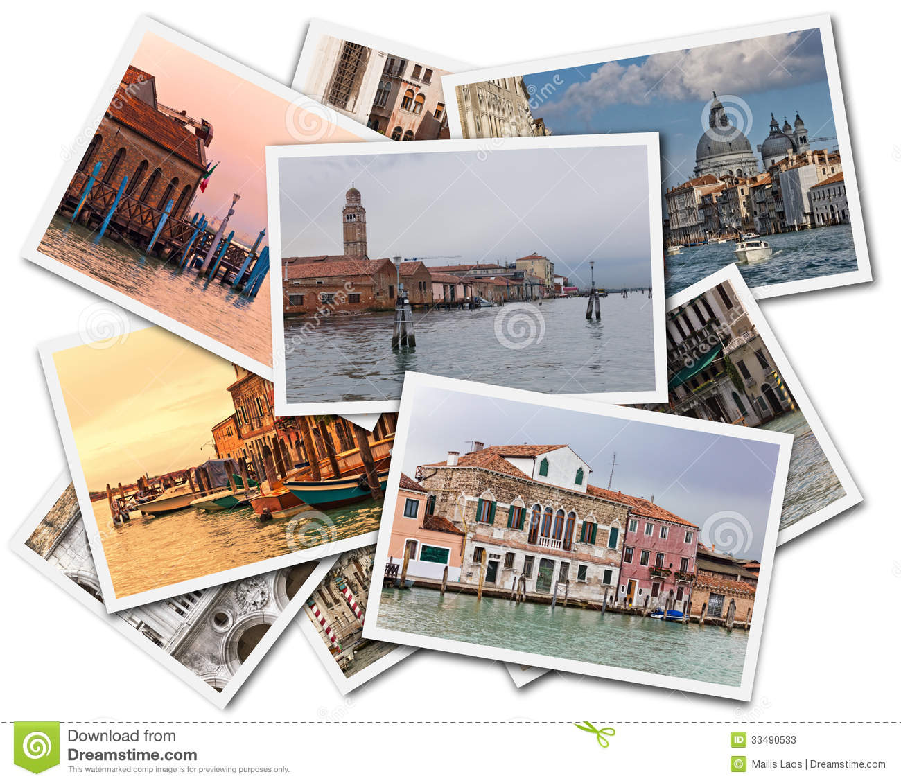 Download Venice Collage stock image. Image of picture, collage - 33490533