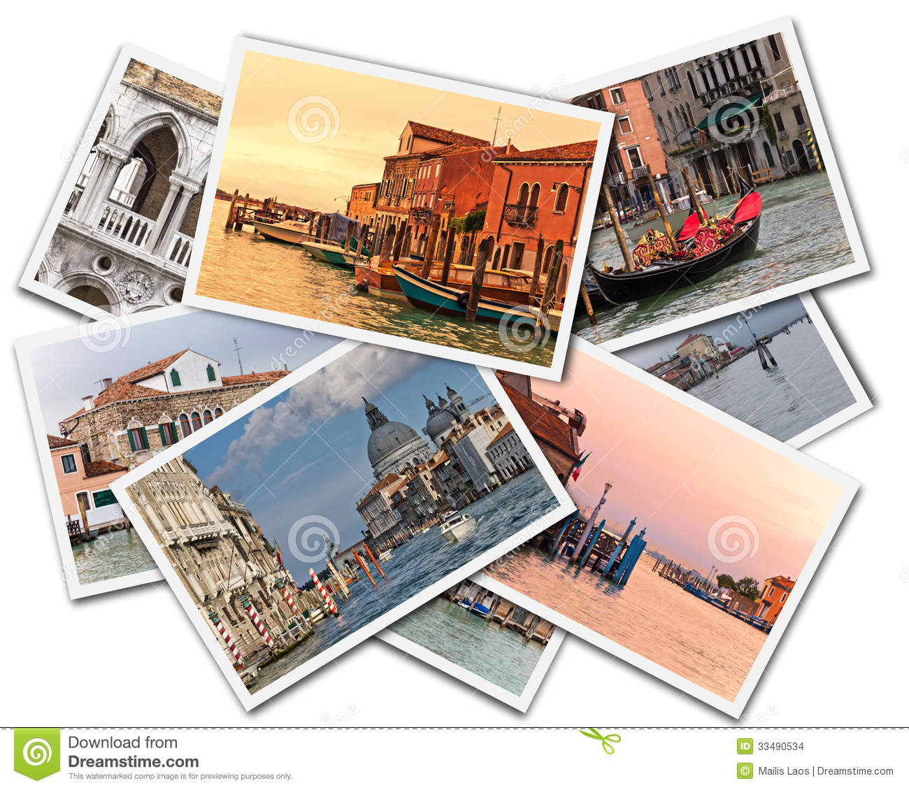 Download Venice Collage stock photo. Image of posts, canal, architecture - 33490534