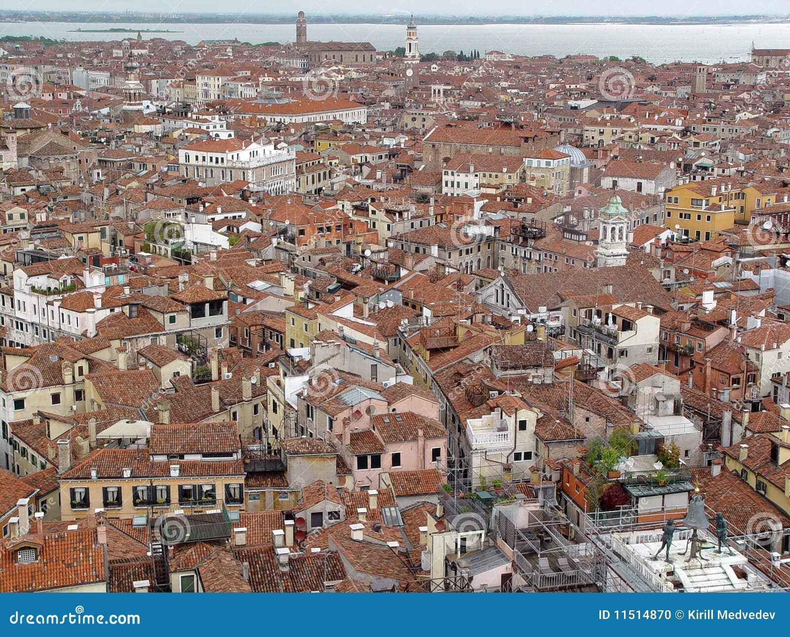 Venice dachowy odgórny widok