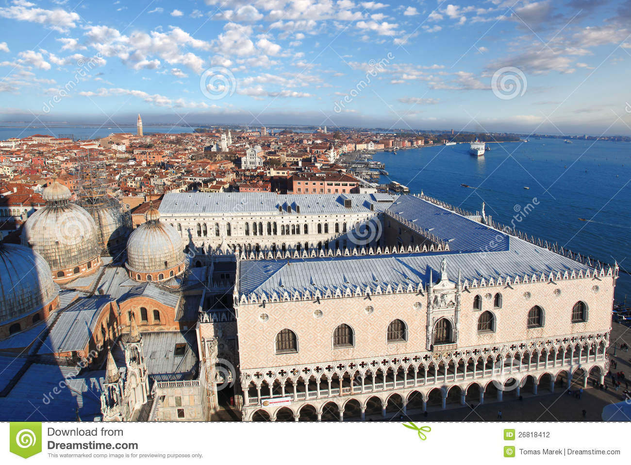 Italian House Plans Venice With Doge Palace In Italy Stock Photo Image 26818412