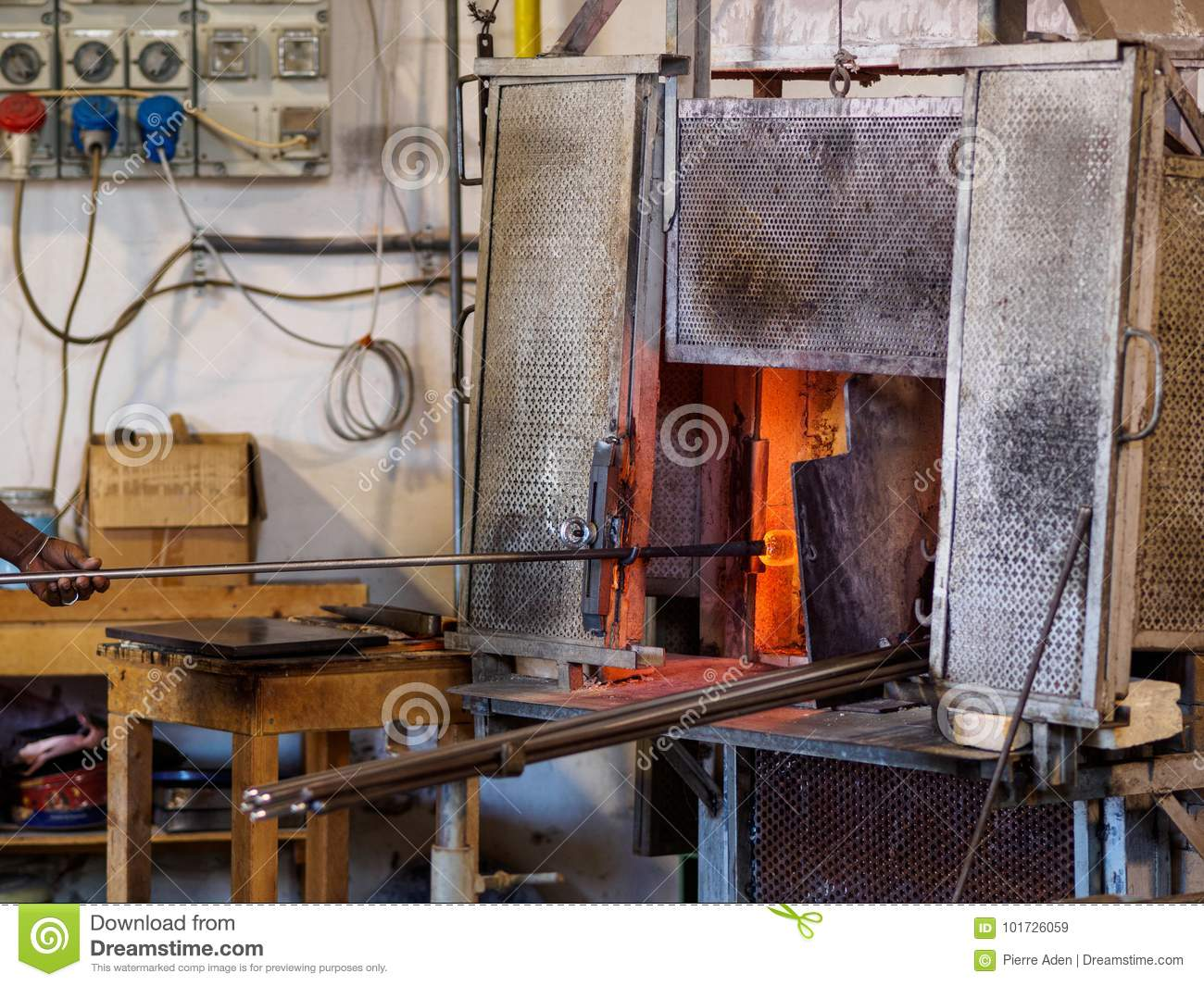 Murano Glass Factory.Venice Glass Factory Stock Image Image Of Glowing