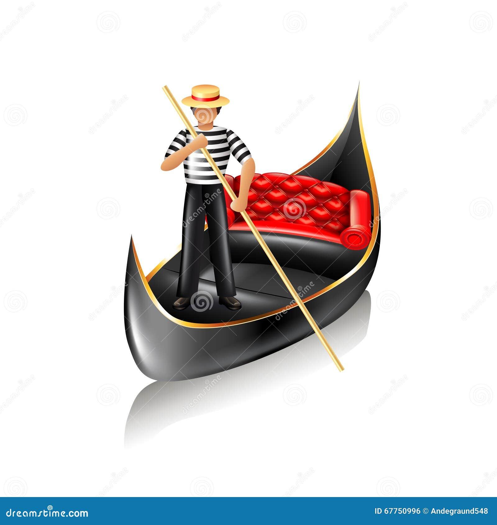 Venice gondola vector stock vector. Illustration of rudder - 67750996