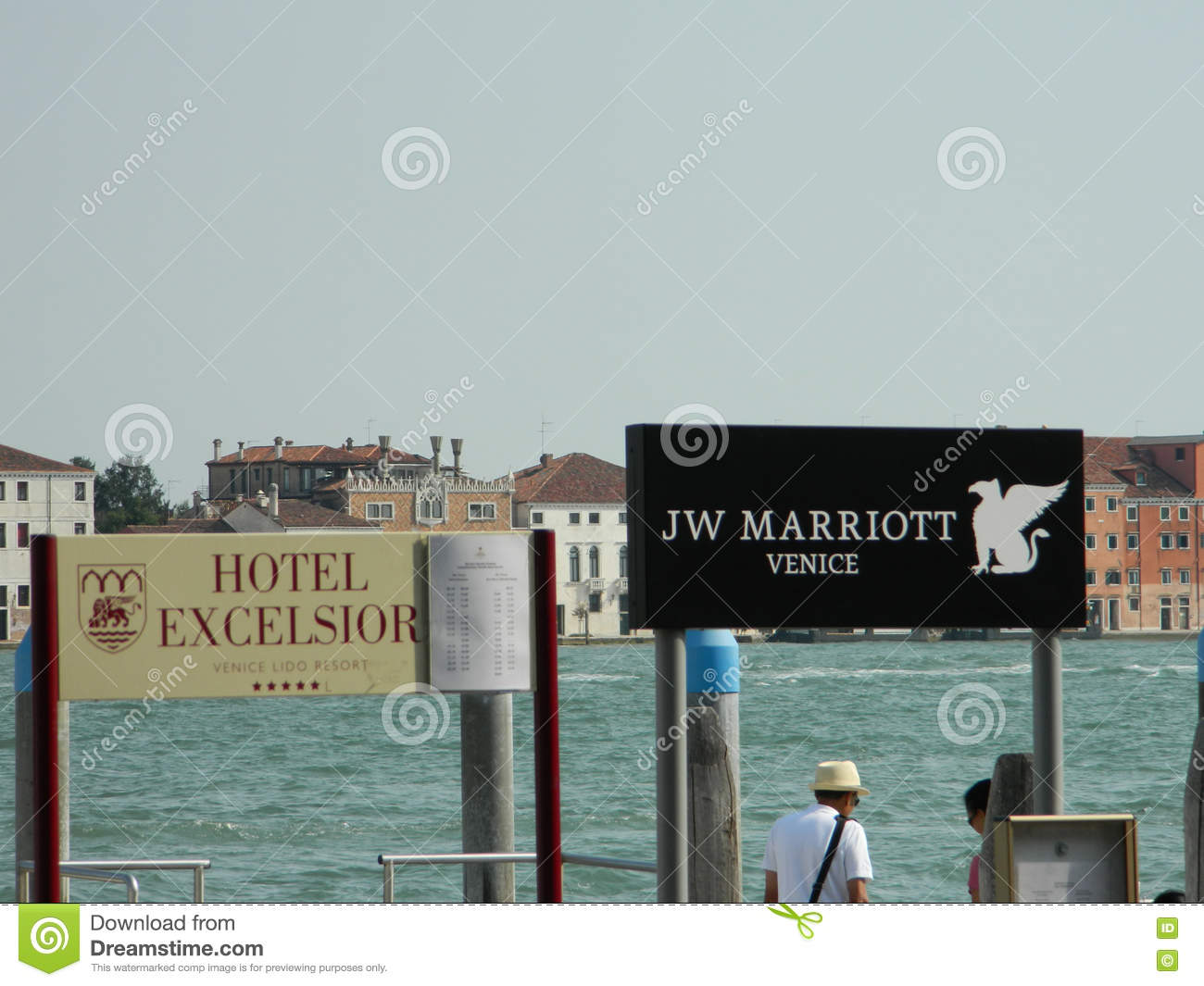 Venice Hotel Signs Editorial Photo Image Of Balcony 73898021