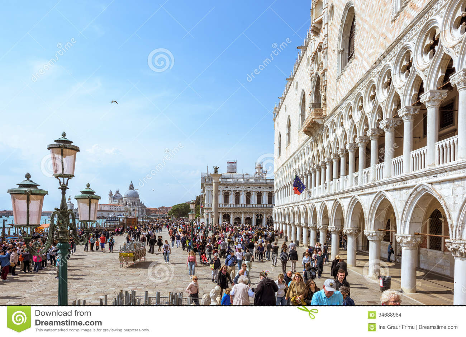 VENICE, ITALY - APRIL 02, 2017: San Marco Square In Venice, Italy ...