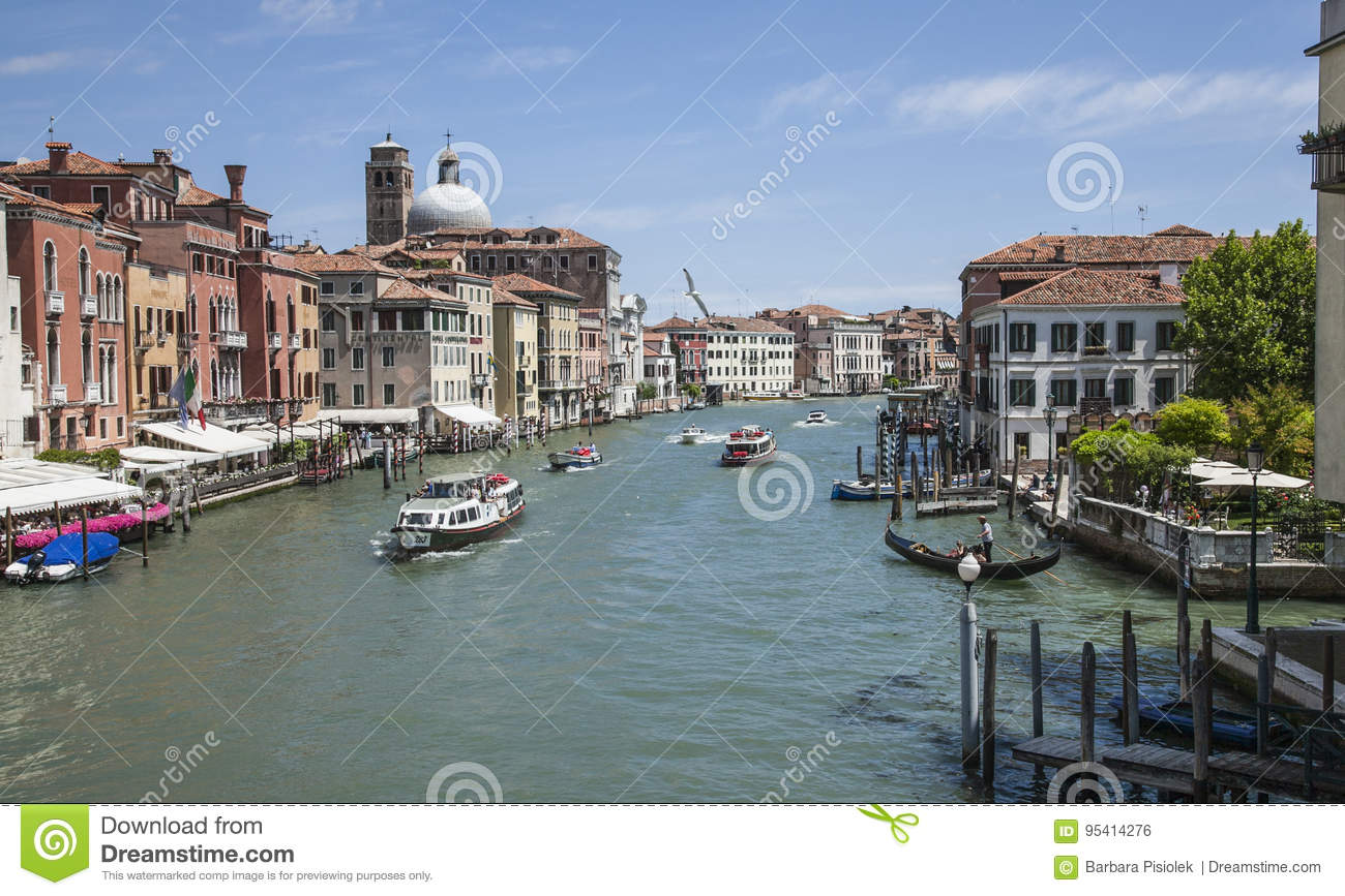 Venice, Italy - boats and buildings.