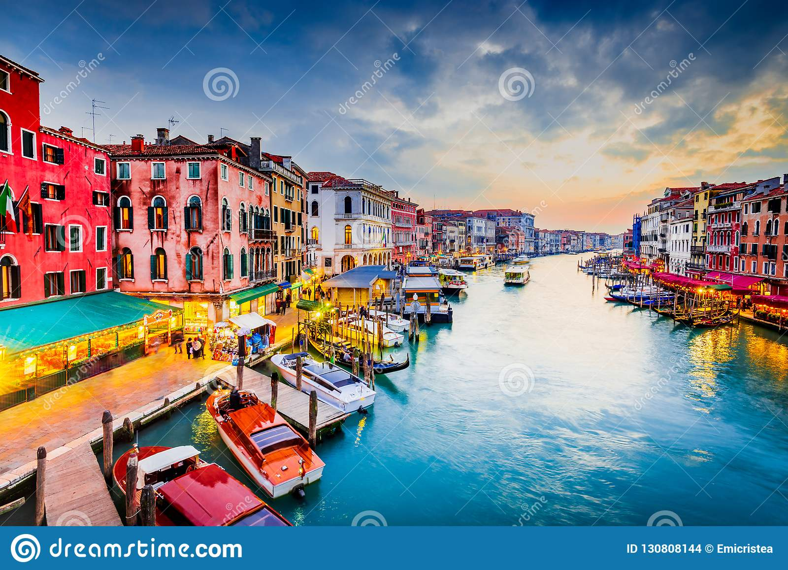 Venice Italy Grand Canal Stock Photo Image Of City