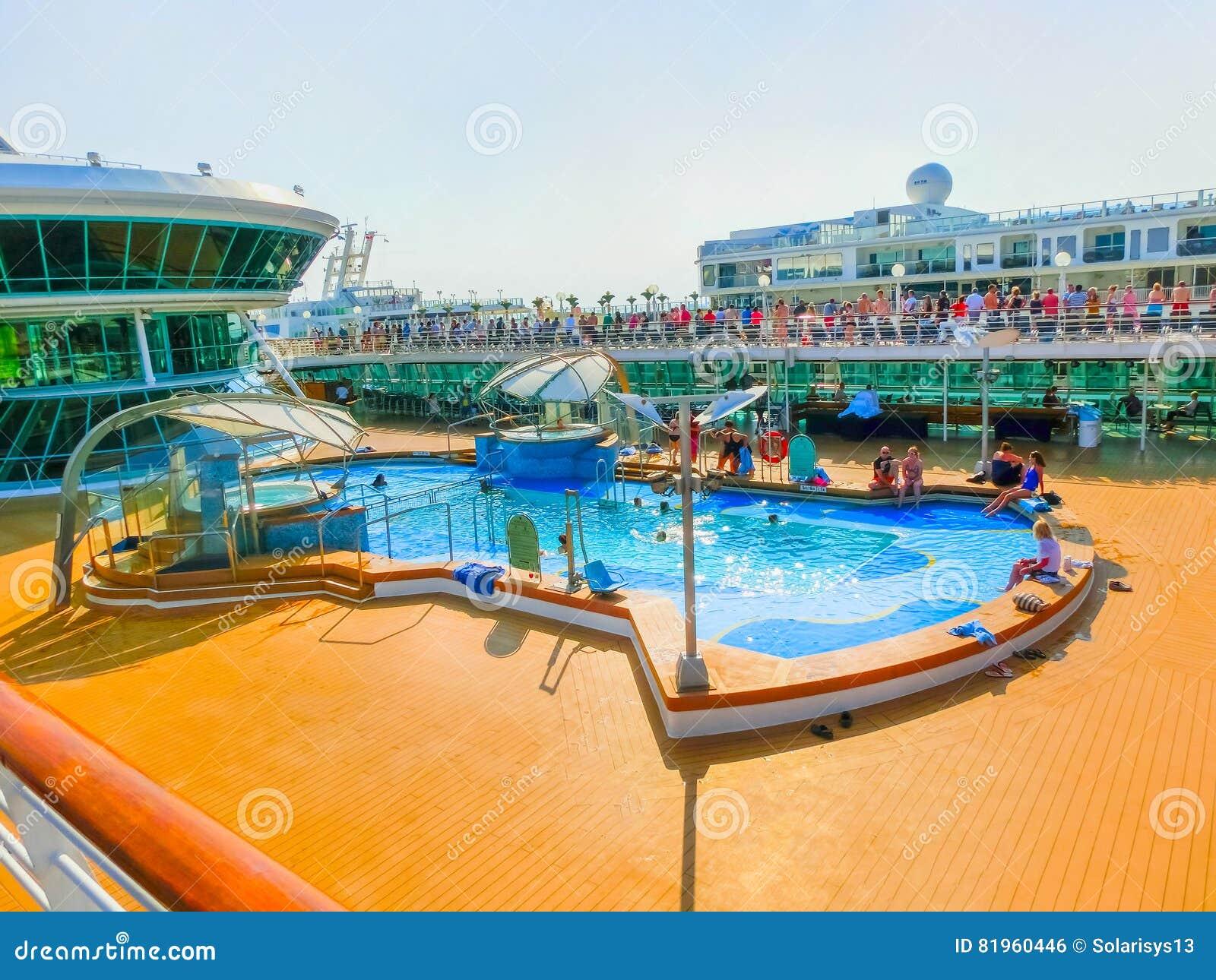 Venice, Italy - June 06, 2015: Cruise ship Splendour of the Seas by Royal Caribbean International