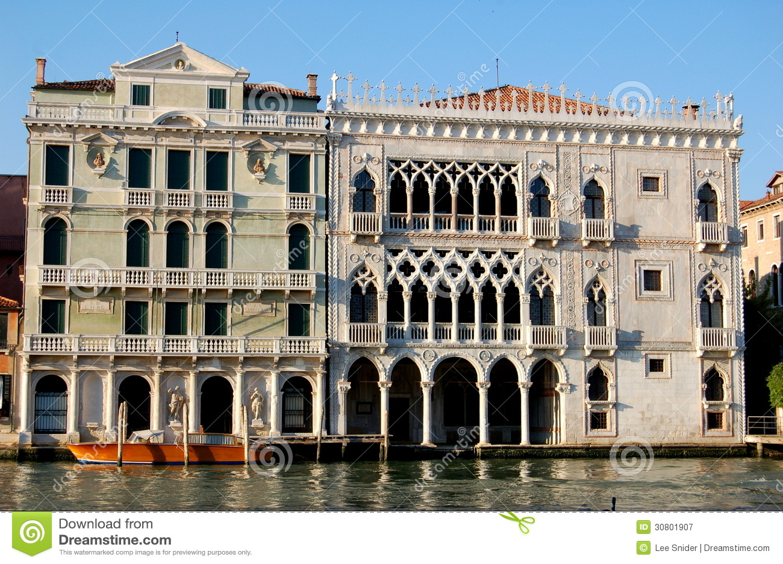 Venice Italy Palazzo Ca D Oro Stock Image Image Of
