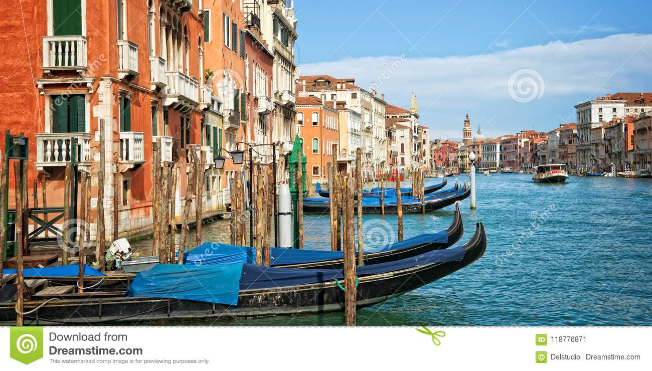 Venice Italy, panorama of the grand canal