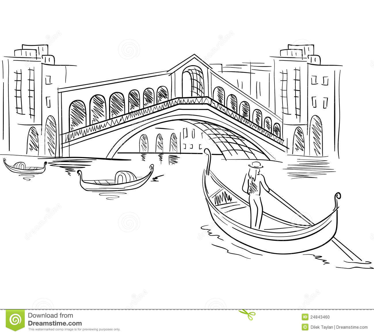 Line Drawing Venice : Venice italy scene stock photo image