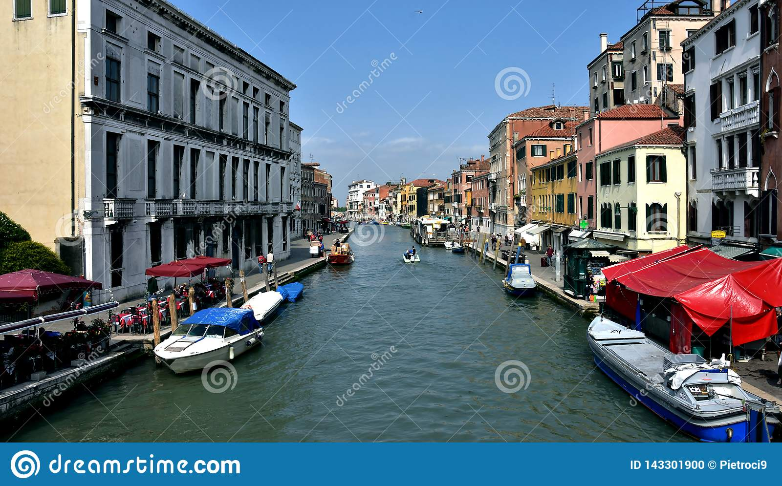 Venice, its canals and its colors.