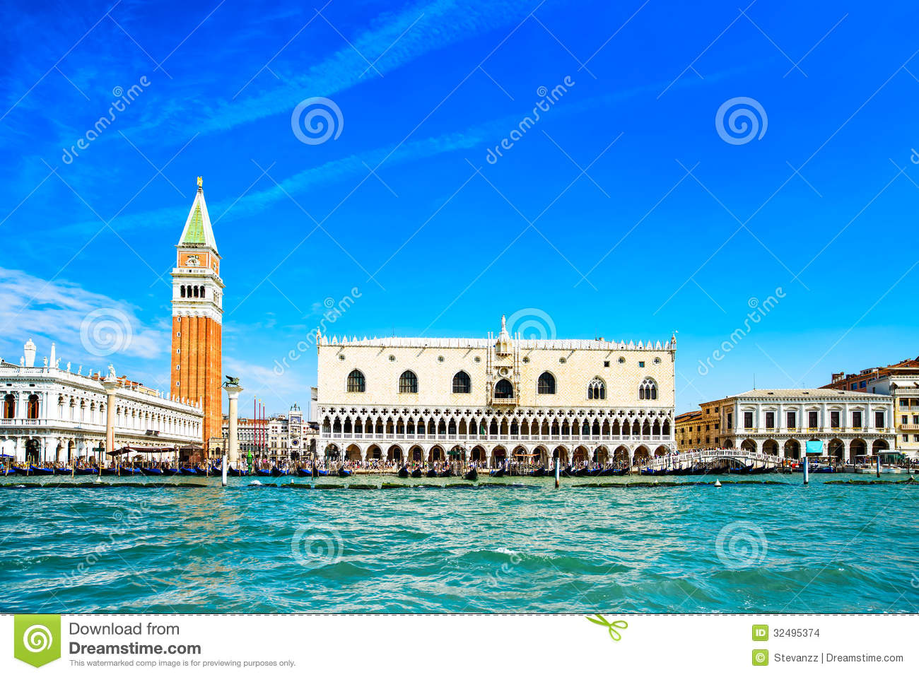 Venice Landmark  Piazza San Marco With Campanile And Doge