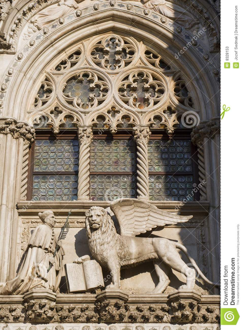 Venice Lion Of St Mark Symbol Of The Town Stock Image Image