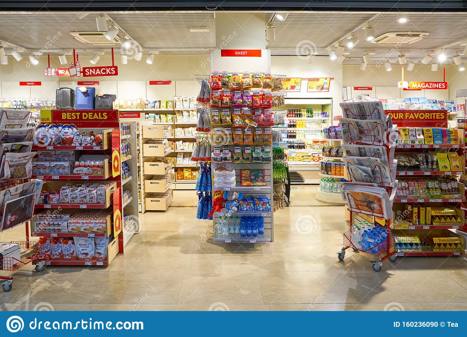Venice Marco Polo Airport editorial image. Image of merchandise - 160236090