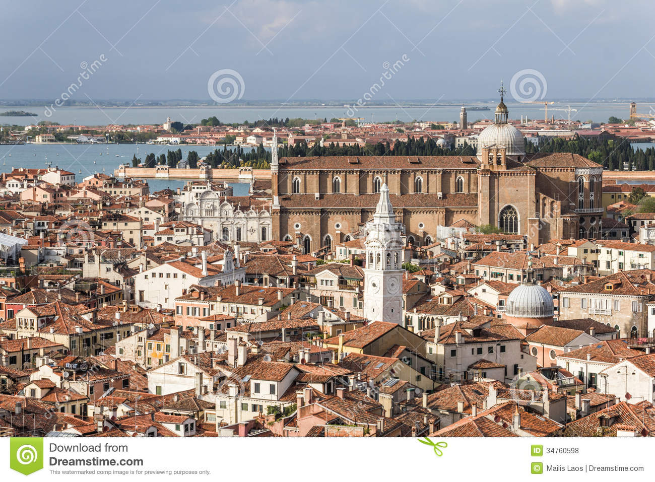 Download Venice Panorama stock photo. Image of viewpoint, culture - 34760598