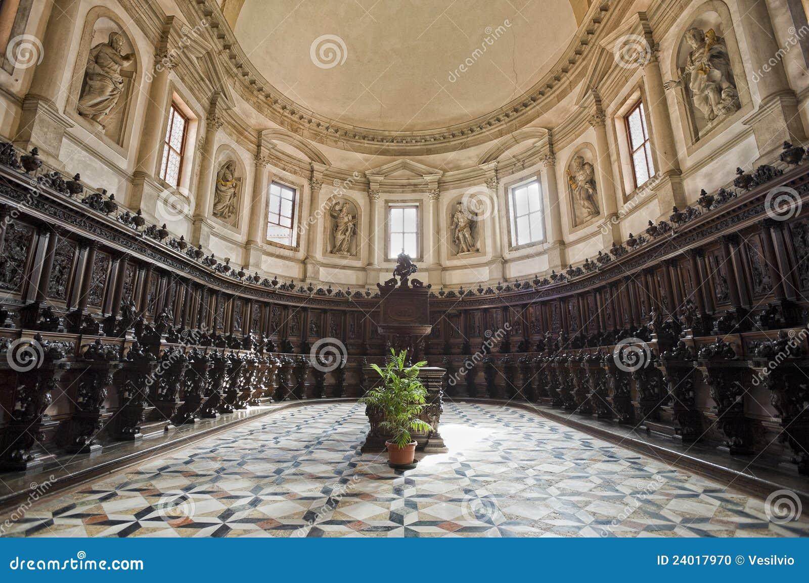 Venice: Saint George Church Choir Stock Photo - Image ...