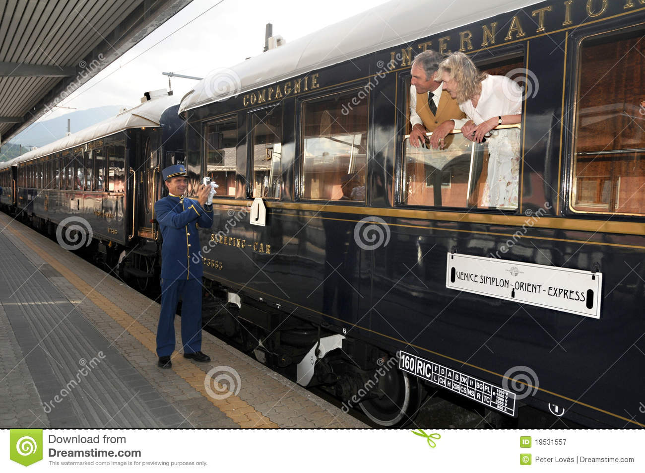 The Venice Simplon-Orient-Express - Conductor Editorial Photography ...