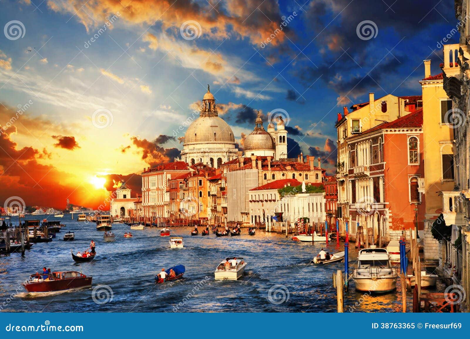 Venice on sunset
