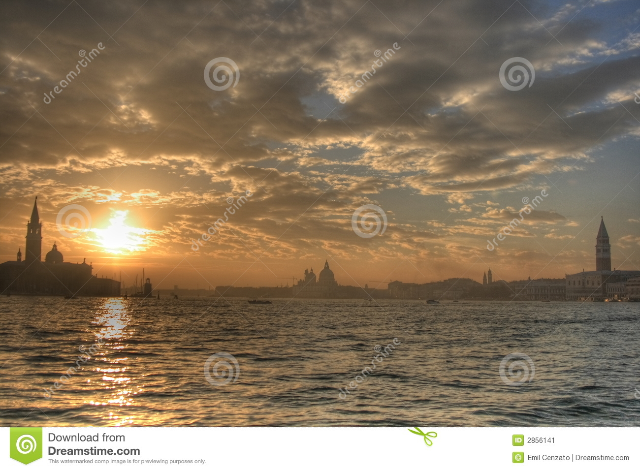 Venice sunset , hdr