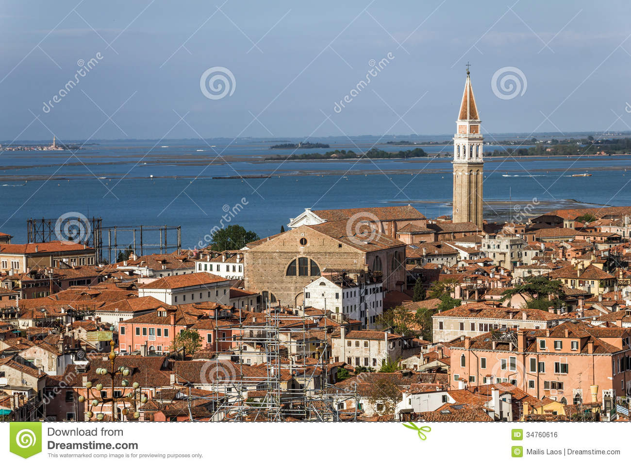 Download Venice and Venice Lagoon stock photo. Image of aerial - 34760616