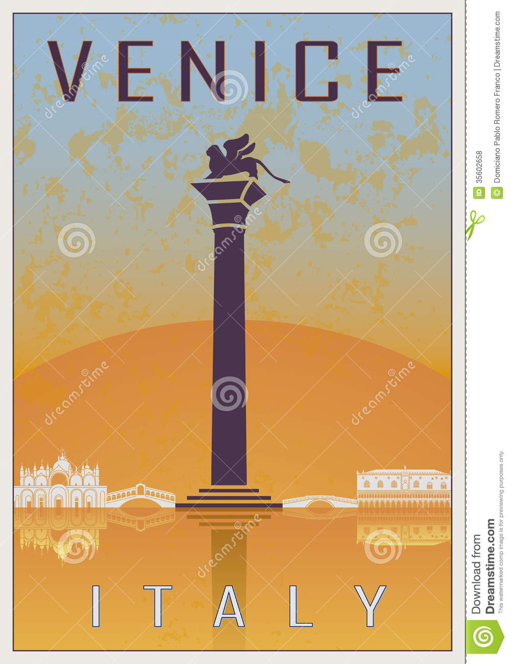 Venice Vintage Poster Royalty Free Stock Photos Image