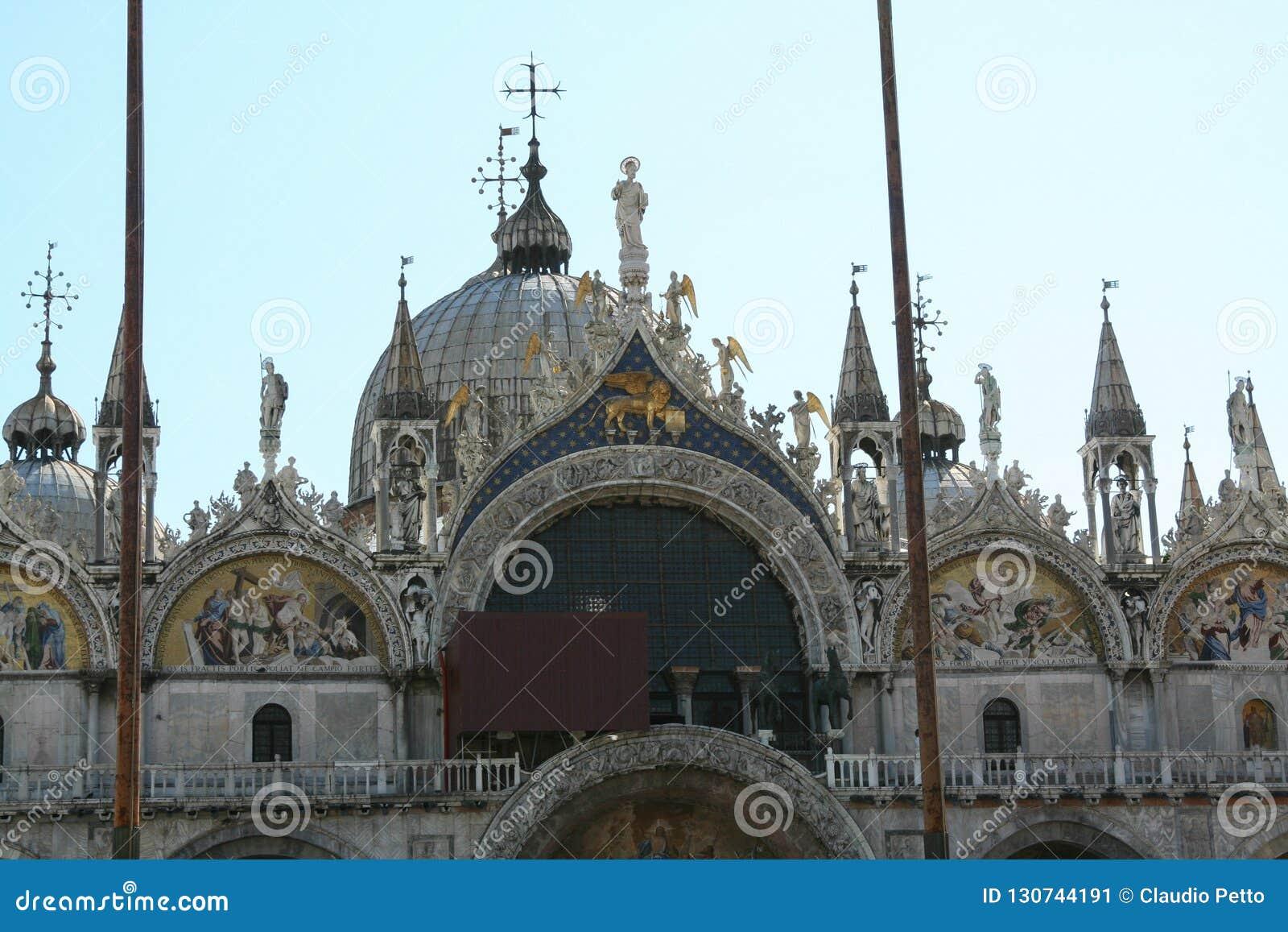 Venise, Basilica di San Marco, hautes mosaïques de la façade
