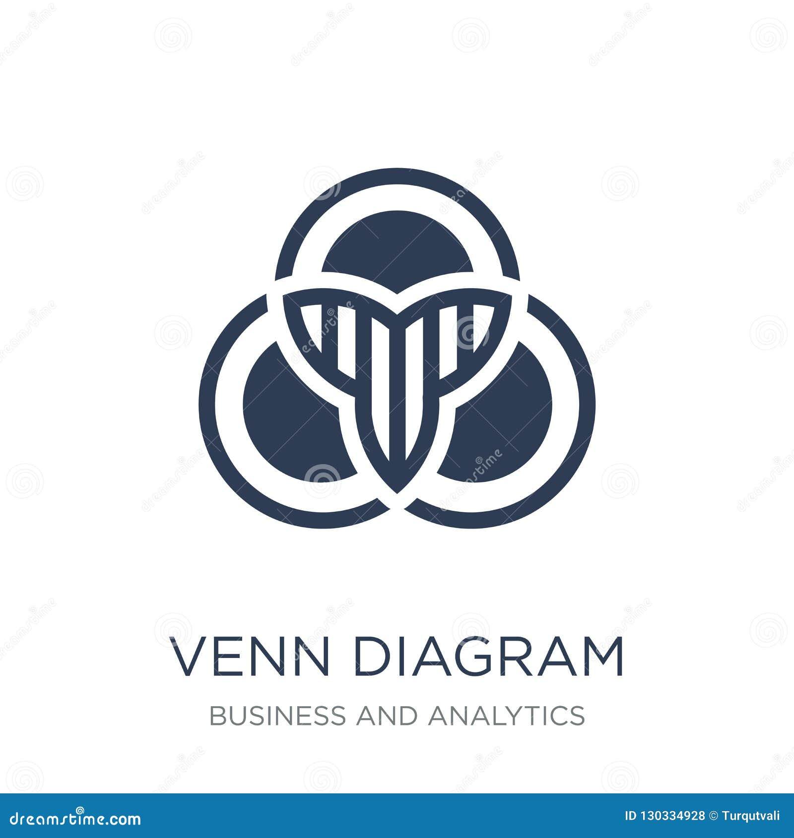 Venn Diagram Icon  Trendy Flat Vector Venn Diagram Icon On White Stock Vector