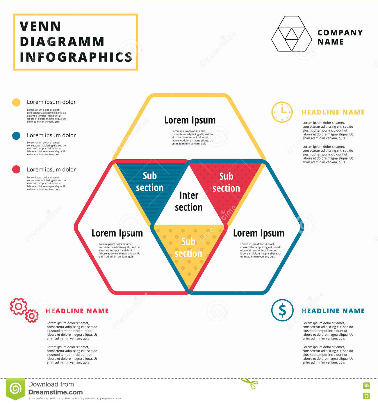 venn diagram vector circles infographics template design overl rh dreamstime com