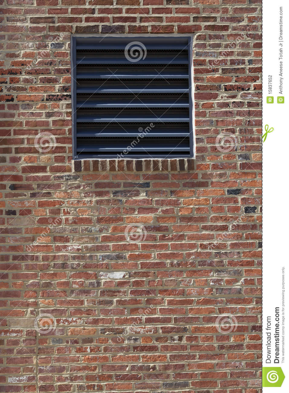 Vent In A Brick Wall Stock Photo Image Of Brickwall