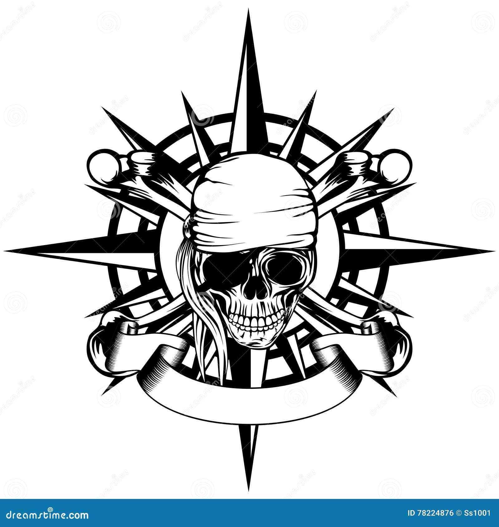 Vent Rose Et Pirate Illustration De Vecteur Illustration Du