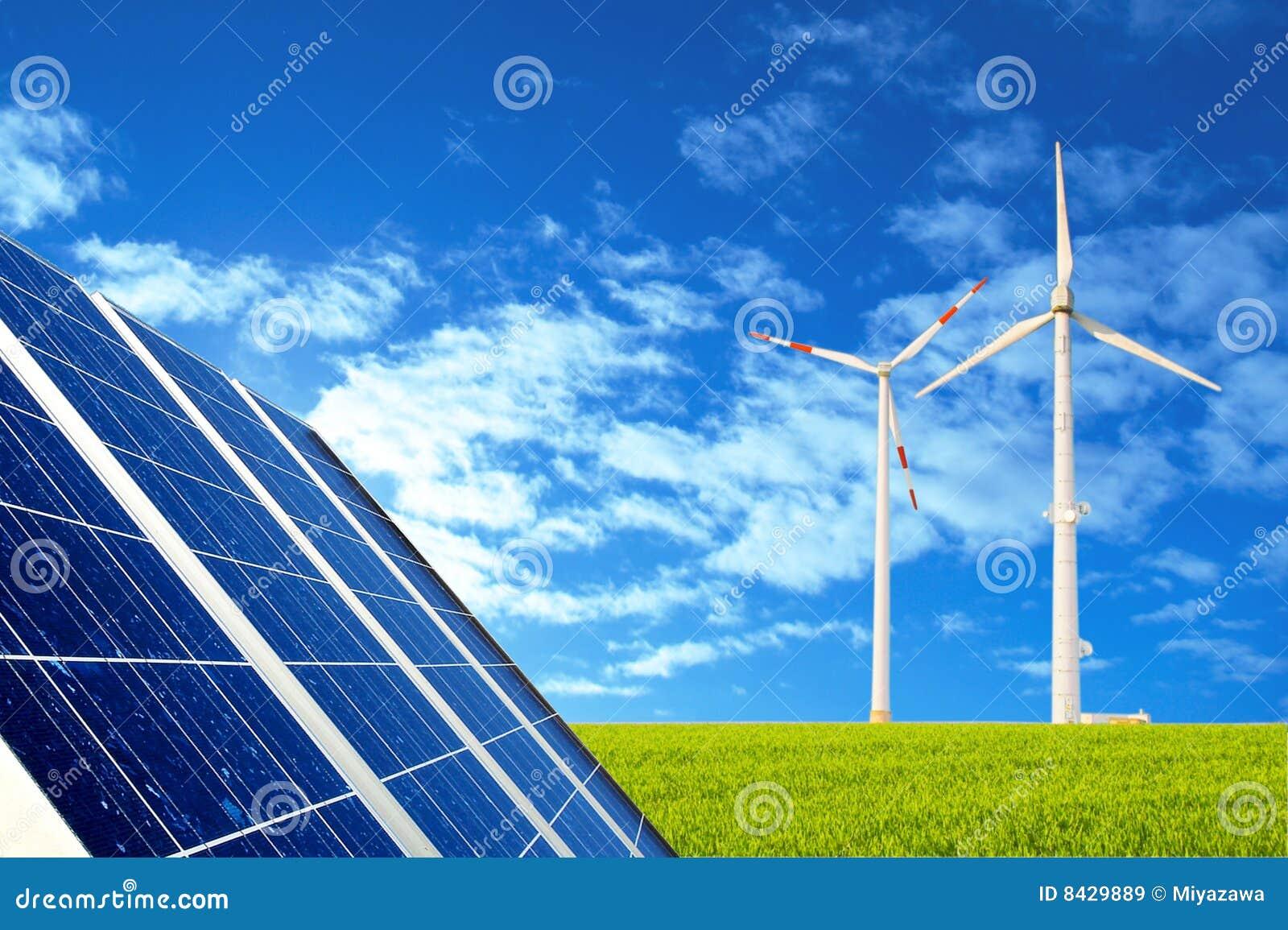 Vent solaire d énergie