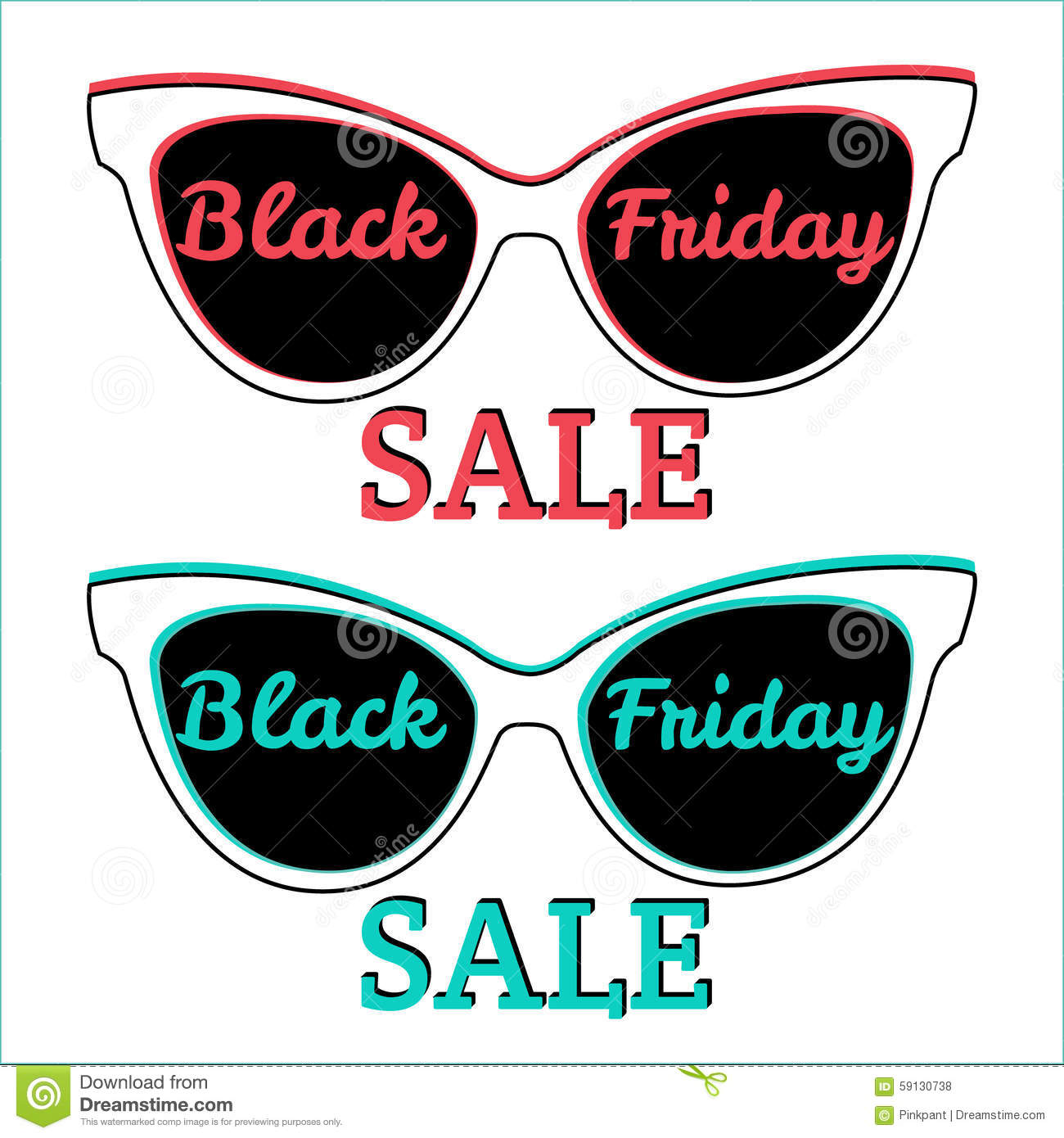 ad9b0b3a52 Gafas de sol, Black Friday Venta de Black Friday de la insignia del icono  del vector