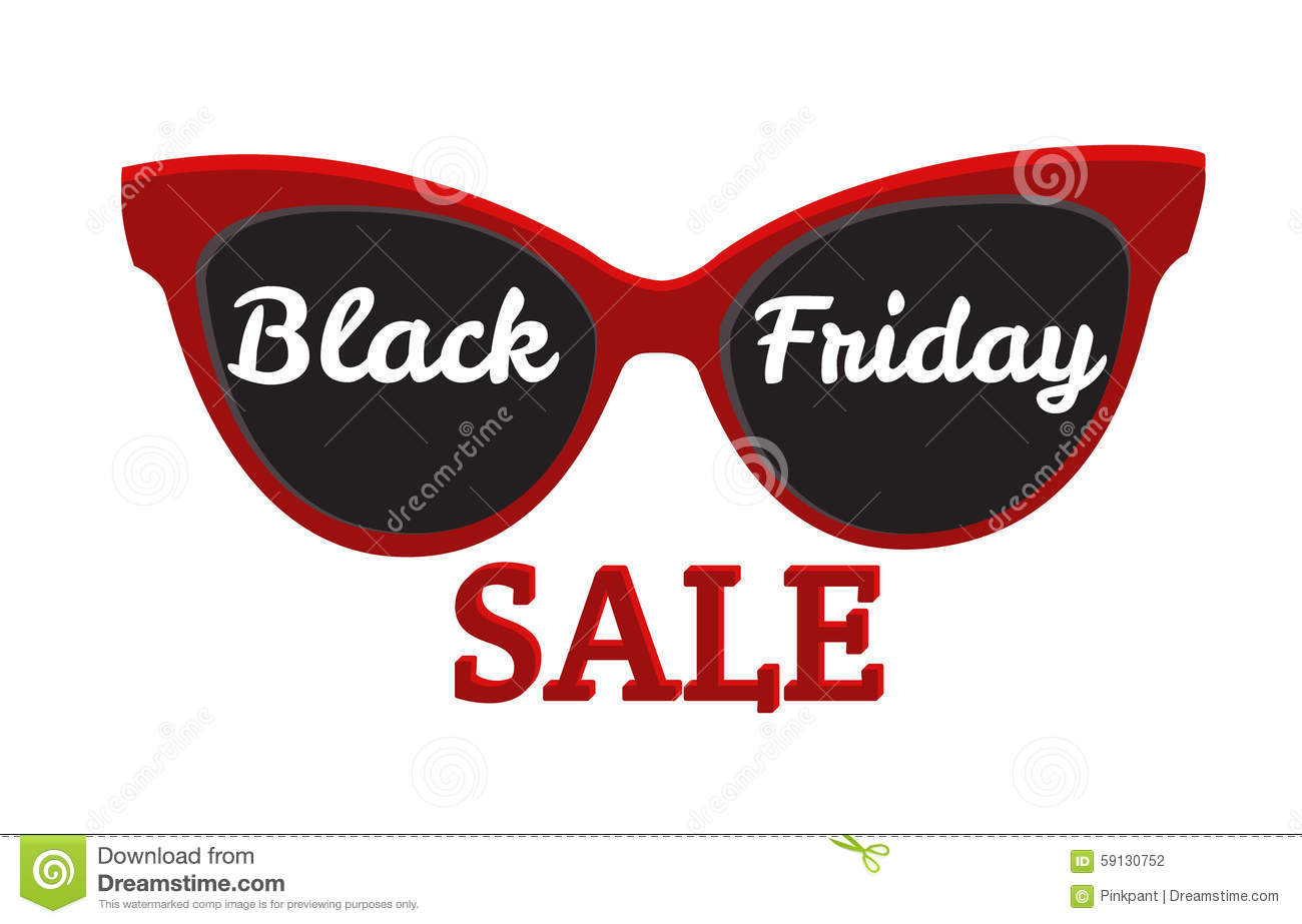 2695d3a191 Gafas de sol, venta de Black Friday de la insignia del icono del vector de  Black Friday