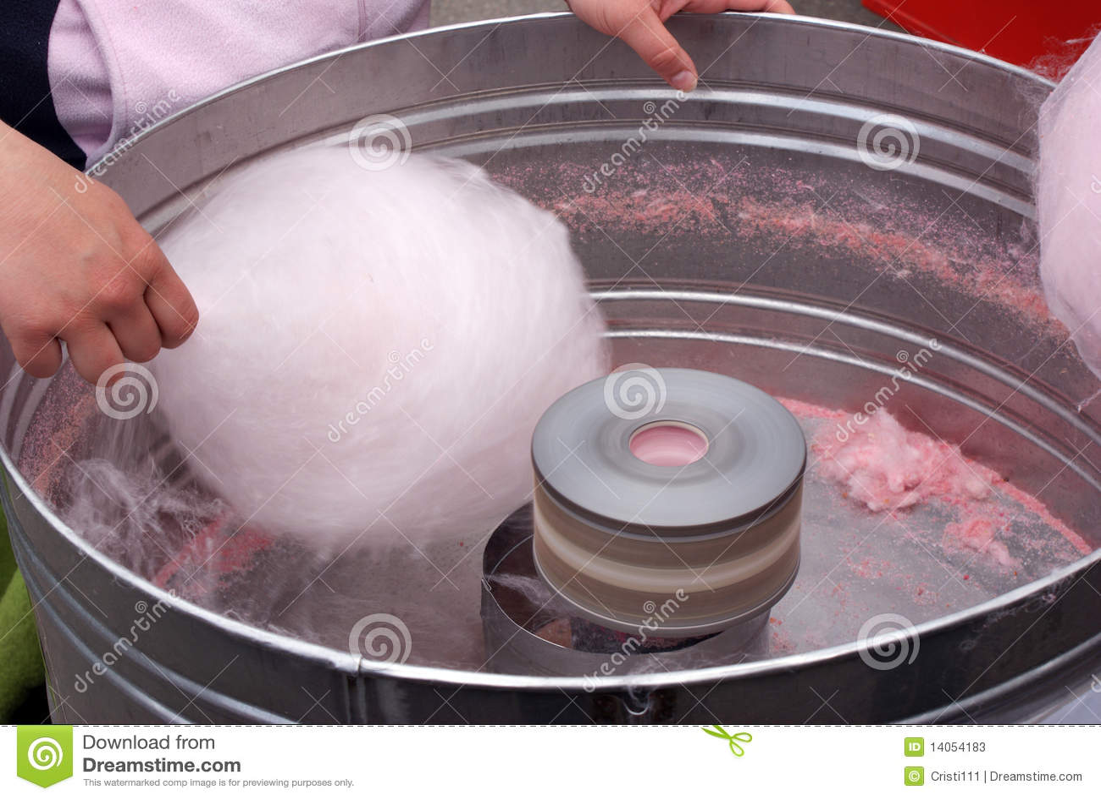 Venta del caramelo de algodón