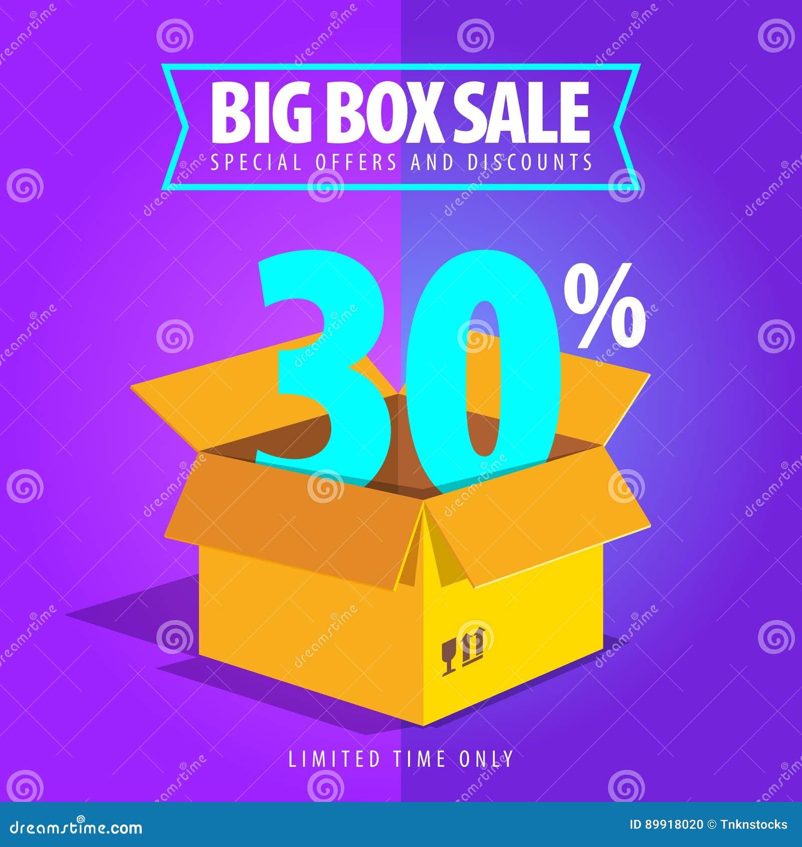 Venta grande de la caja, ofertas especiales y descuentos