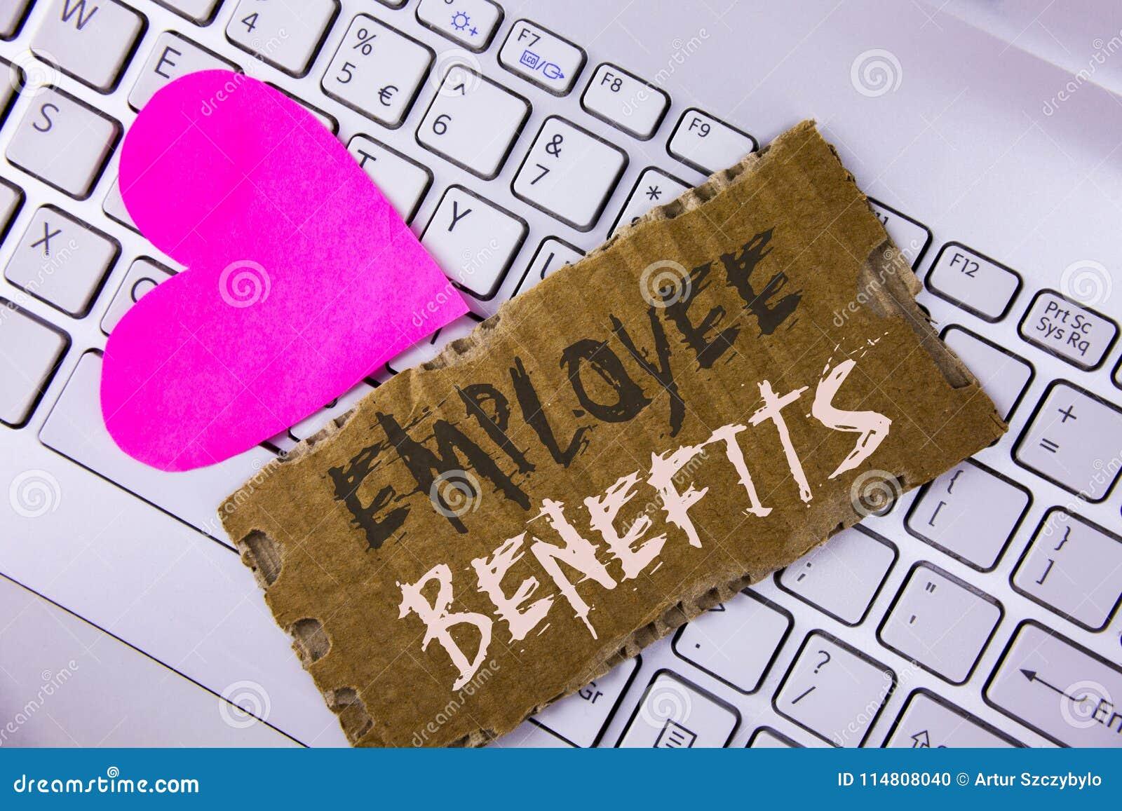 Ventajas de empleado del texto de la escritura de la palabra El concepto del negocio para la lista de reclutador de la ventaja co