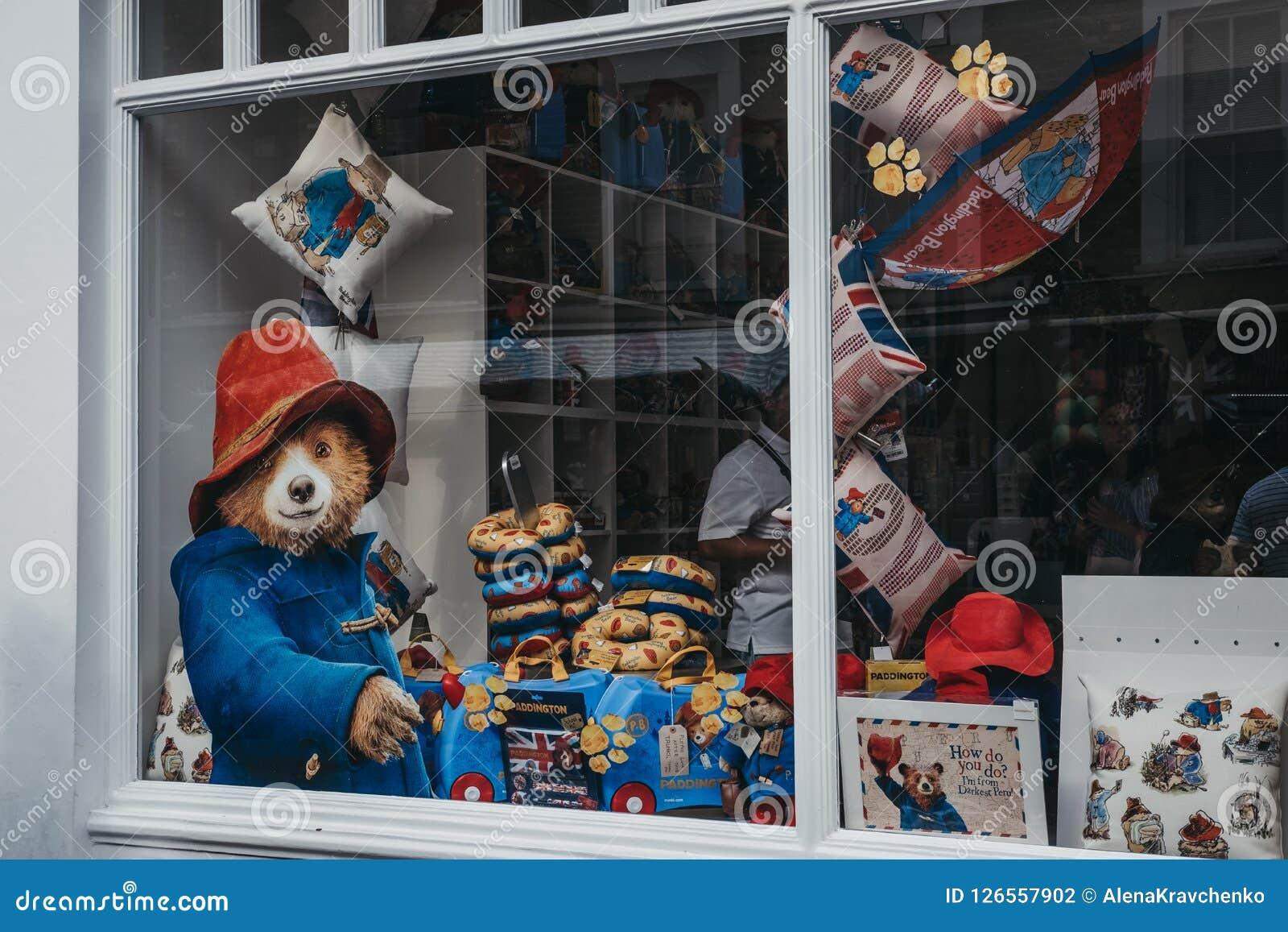 Ventana de la tienda móvil de Paddington en el camino de Portobello, Londres, Reino Unido