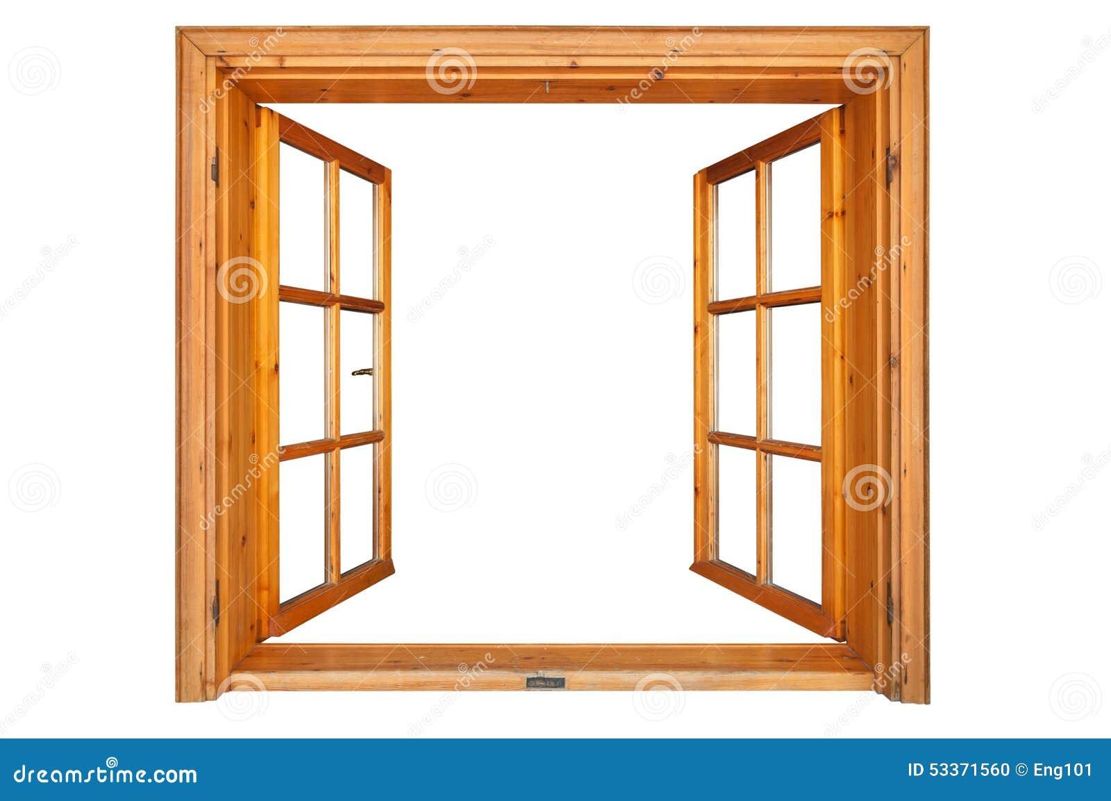 Ventana de madera abierta foto de archivo imagen de for Ventanas en madera