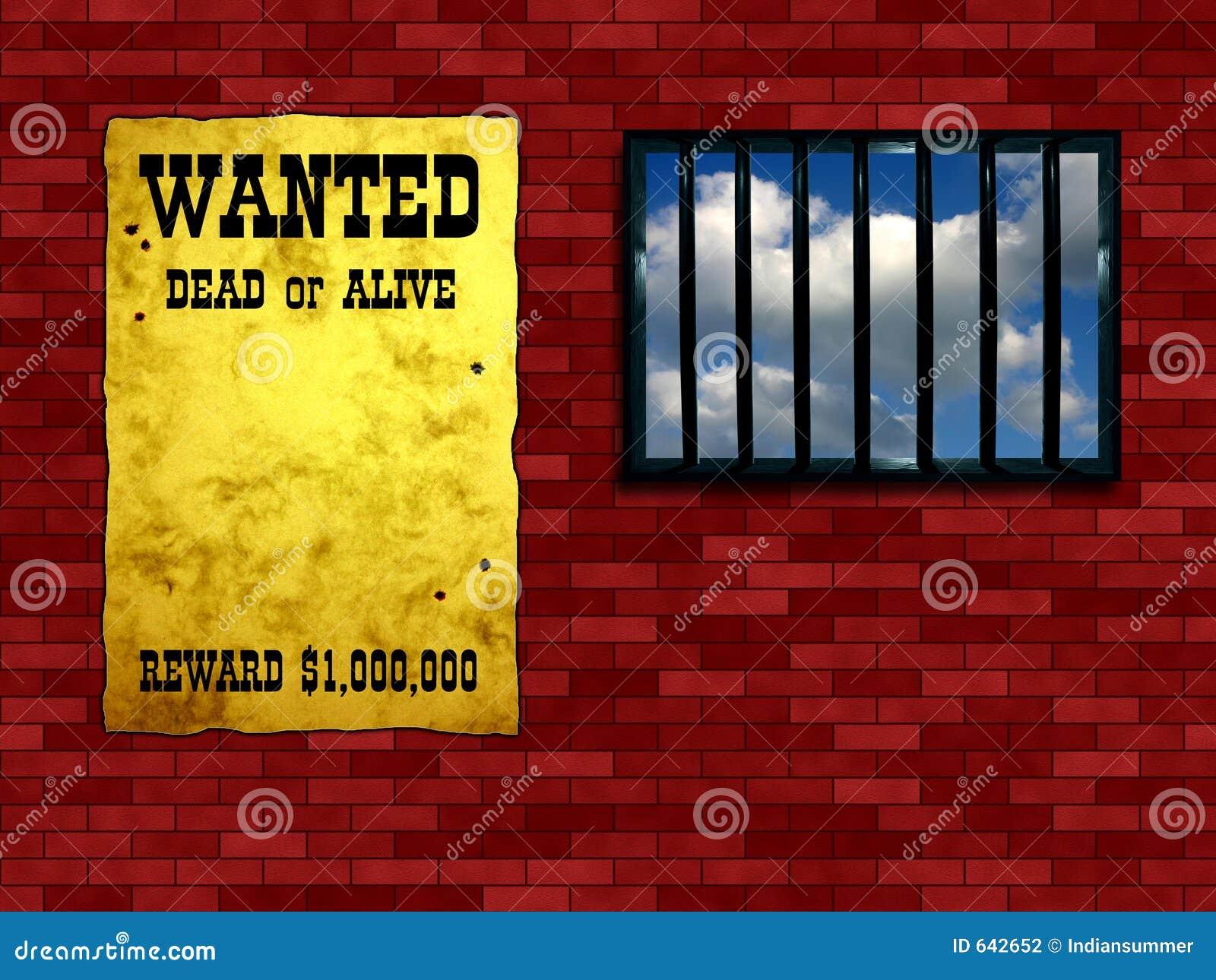 Ventana enrejada de la prisión
