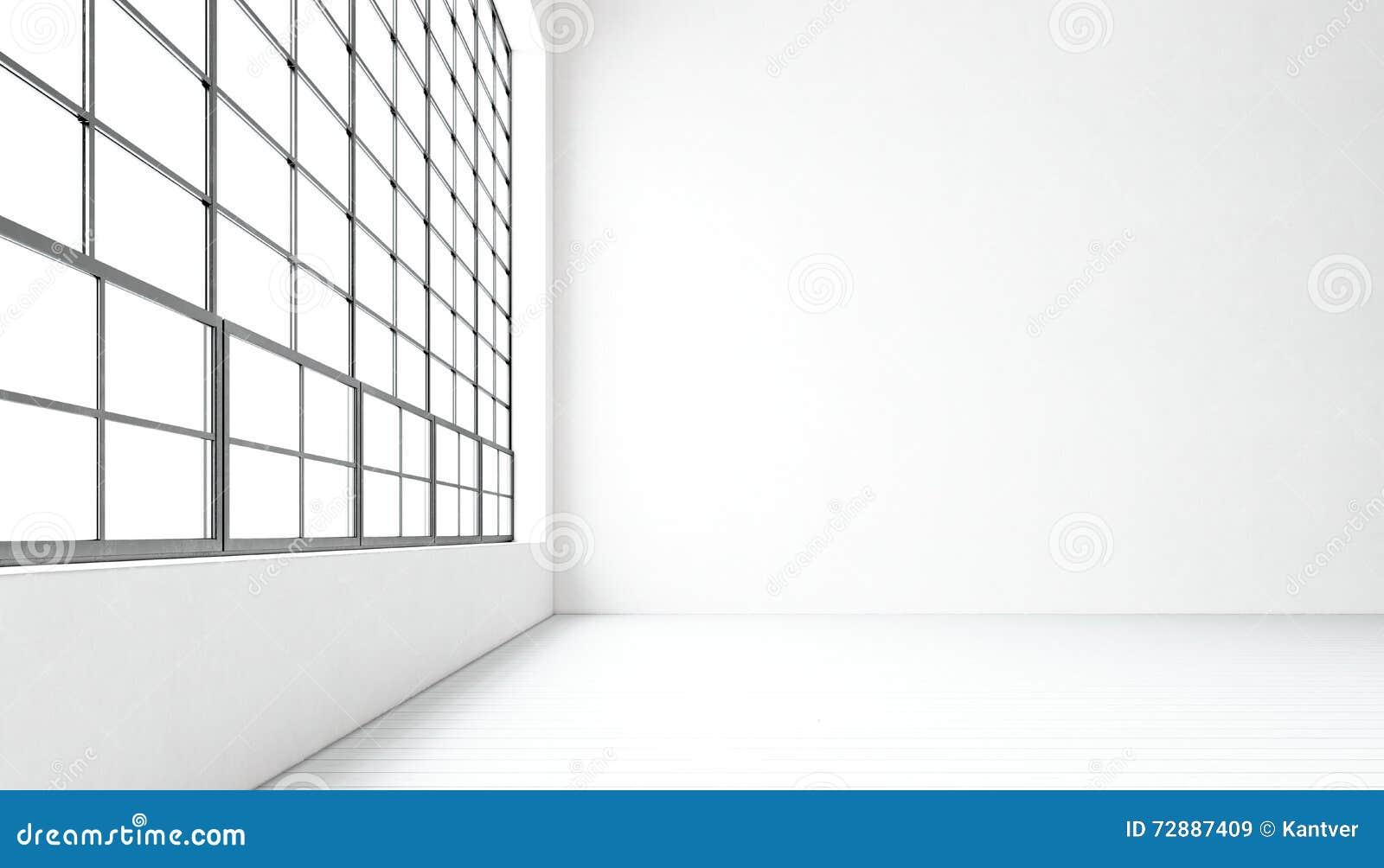 Ventanas Panorámicas Enormes Modernas Vacías De La Sala De Reunión ...