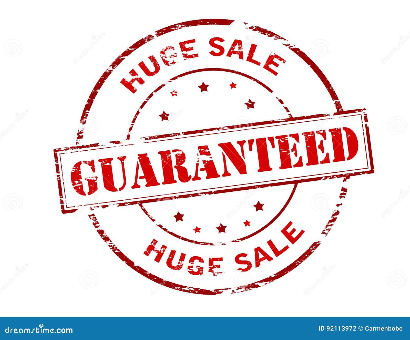 Vente énorme garantie