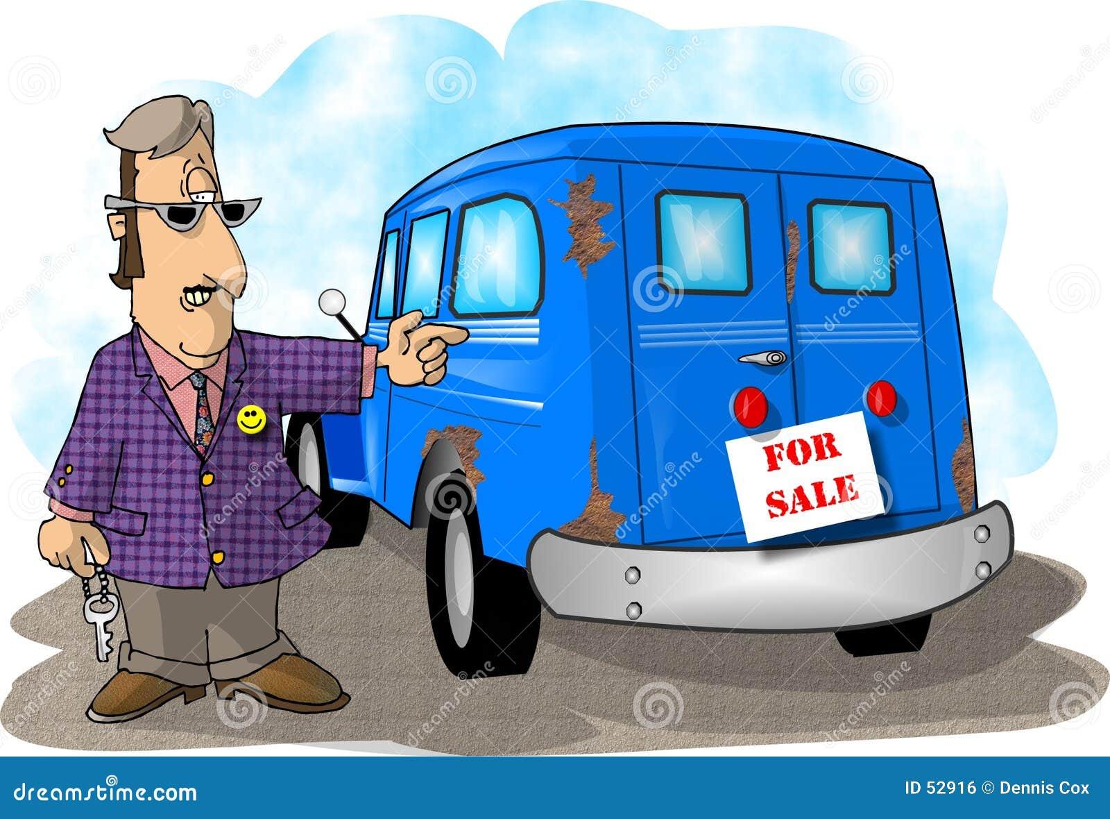 Download Ventes De Voiture D'occasion Illustration Stock - Illustration du vendeur, utilisé: 52916